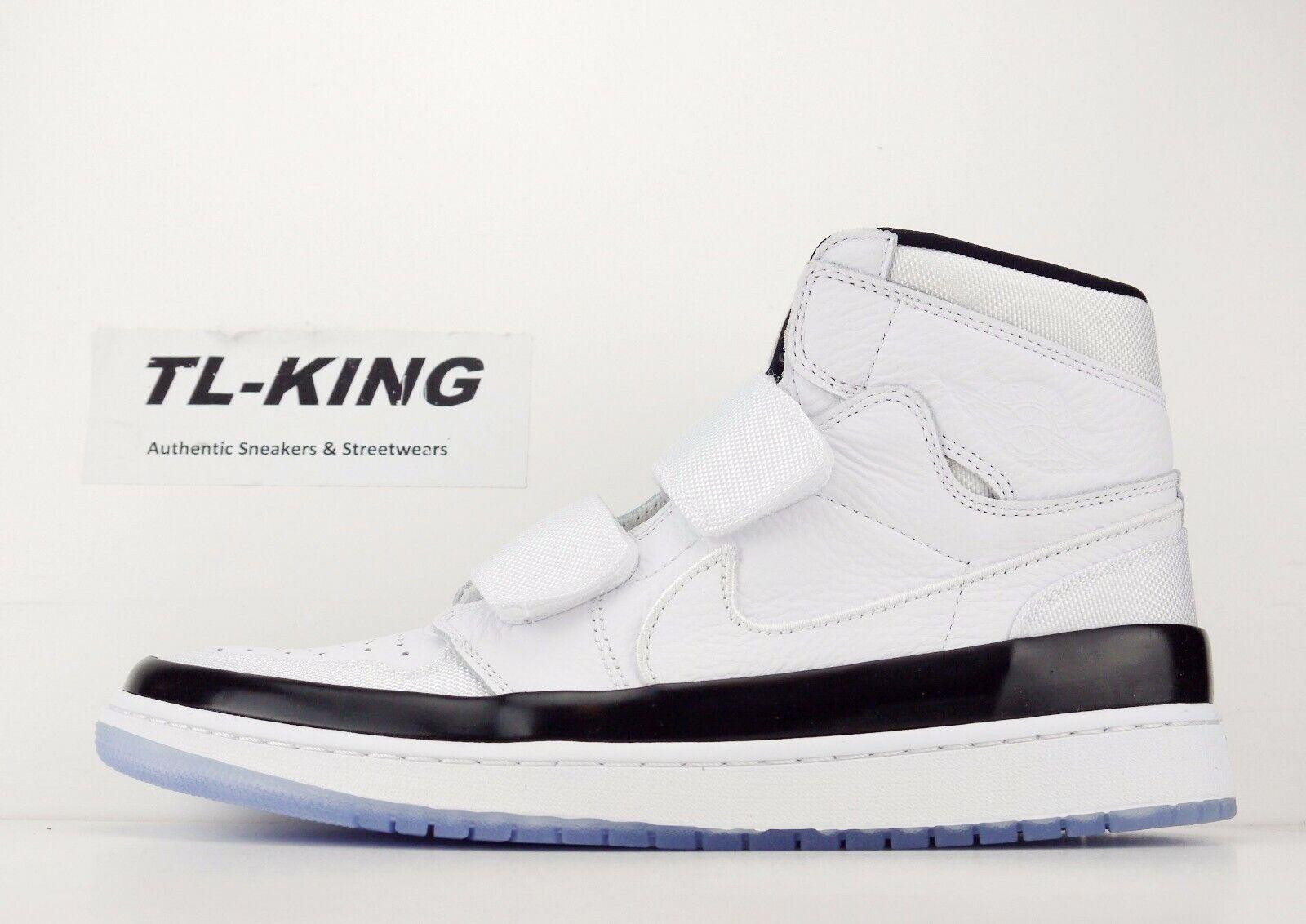 Nike Air Jordan 1 Retro High Double Strap White Dark Concord Black AQ7924 107 CB