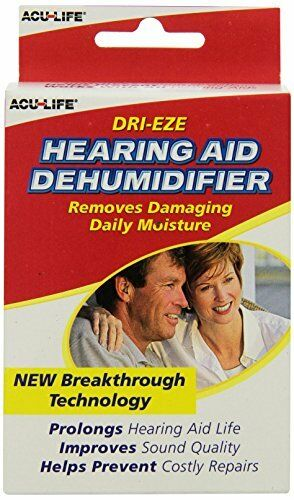 3 Pack AcuLife DriEze Hearing Aid Dehumidifier 1 Each