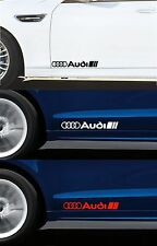 Per Audi - 2 X Porta Adesivi Decalcomanie Adesivi-TT RS A3 A4 Quattro lunghi 300 mm