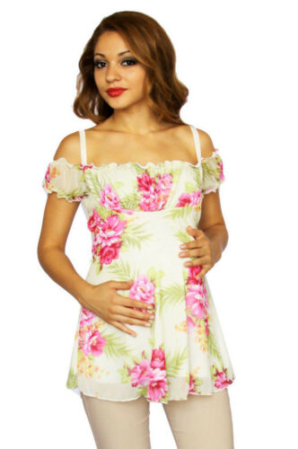 Pink Maternity Short Sleeve Top Floral hawaii Pregnancy Maternity Clothes Wear