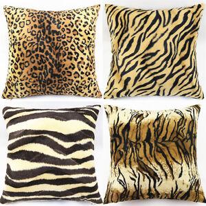 Leopard Zebra Animal Print Throw Pillow Cases Cushion
