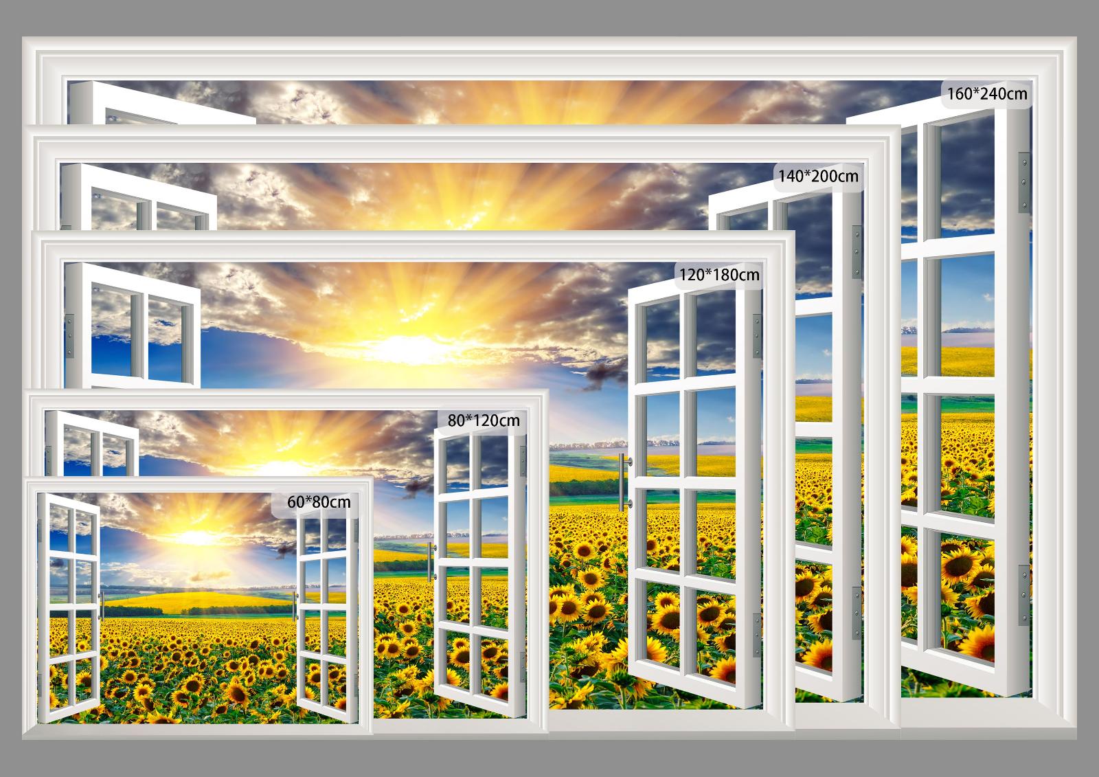3D 3D 3D Tall Mount 409 Open Windows WallPaper Murals Wall Print Decal Deco AJ Summer 20e506