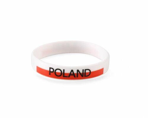 Pulsera de Silicona de Polonia Copa del Mundo de fútbol olímpico Polski polaco