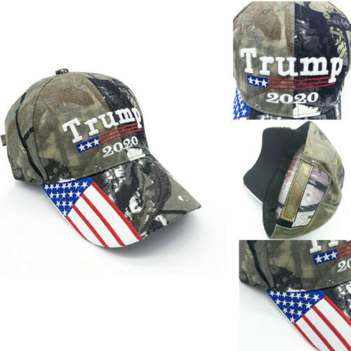 Trump 2020 Printing Camouflage Baseball Cap Adjustable Keep America Great Hat