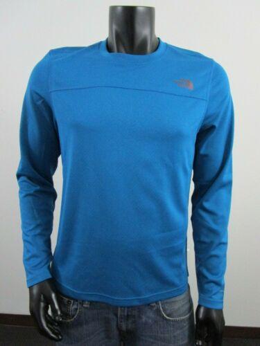 Blue Mens TNF The North Face Textured Trek Long Sleeve Tee Flashdry Baselayer
