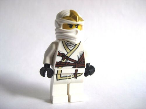 Lego ZANE ZX Ninjago White Ninja Minifigure 9440 9445 9449 9554 -No Armor
