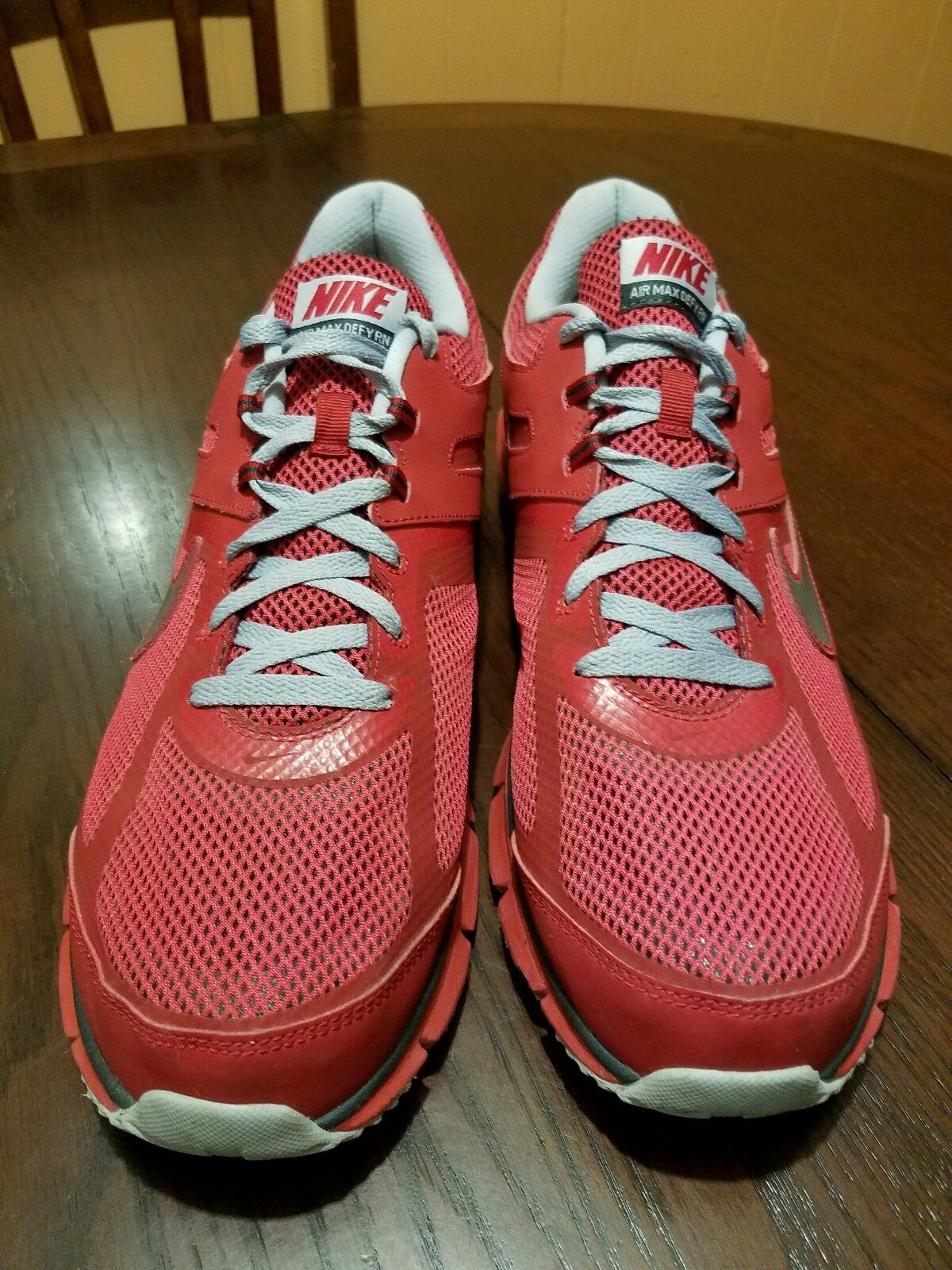 NIKE Air Max Defy RN RN RN Red Running Athletic Sneakers Size 15 599343-600 5f911a