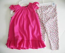 Ralph Lauren Baby Girls Pink Lace Sleeve Tunic & Legging Set Sz 18M - NWT