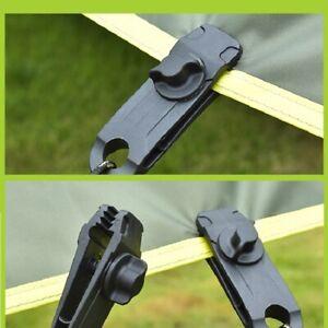 10x Reusable Tent Tarp Tarpaulin Clip Clamp Buckle Camping Tool Heavy Duty UK