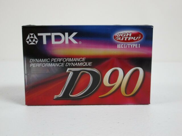 Lot of 3 TDK D90 Cassette Tapes New Japan Free Shipping