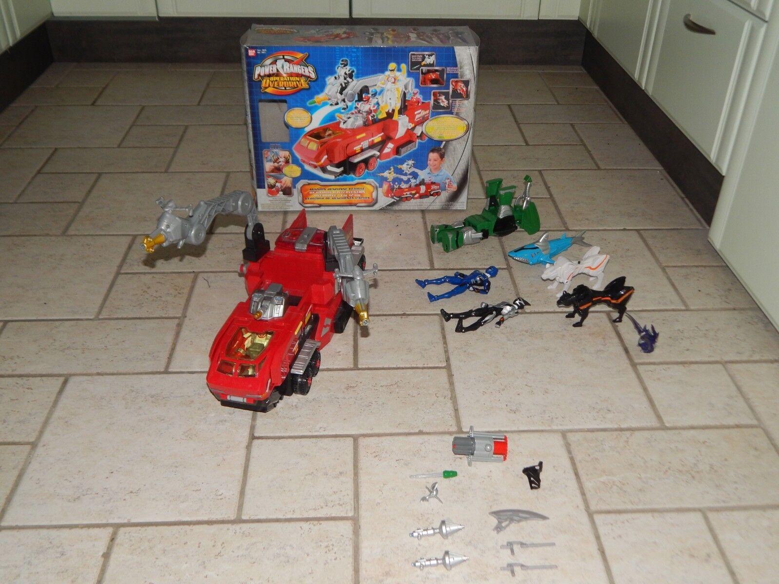 Power Rangers    Operation Overdrive  Mission Response Vehicle mit viel Zubehör 8d7dee