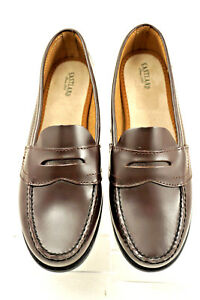 9fa85ed894f Image is loading EASTLAND-CLASSIC-II-Womens-Brown-Leather-Penny-Loafers-