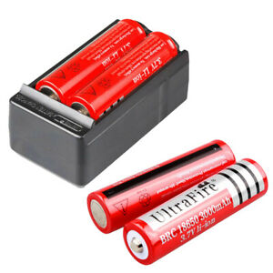 4-X-UltraFire-3000mAh-18650-Battery-3-7v-Li-ion-Rechargeable-Batteries-Charger