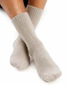 Mens Crew Sock Comfort toe Reinforced heel cushioned World's Softest Sock L & XL