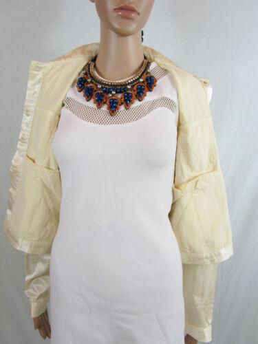 Ladies Veste Courte L Ar68 New Casual 14 Jeans Swish Designer Sz Ivoire Gloss E0qt6w