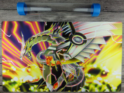 Cyber Dragon YuGiOh WCS//WCQ Custom Playmat TCG Mat Free High Quality Tube