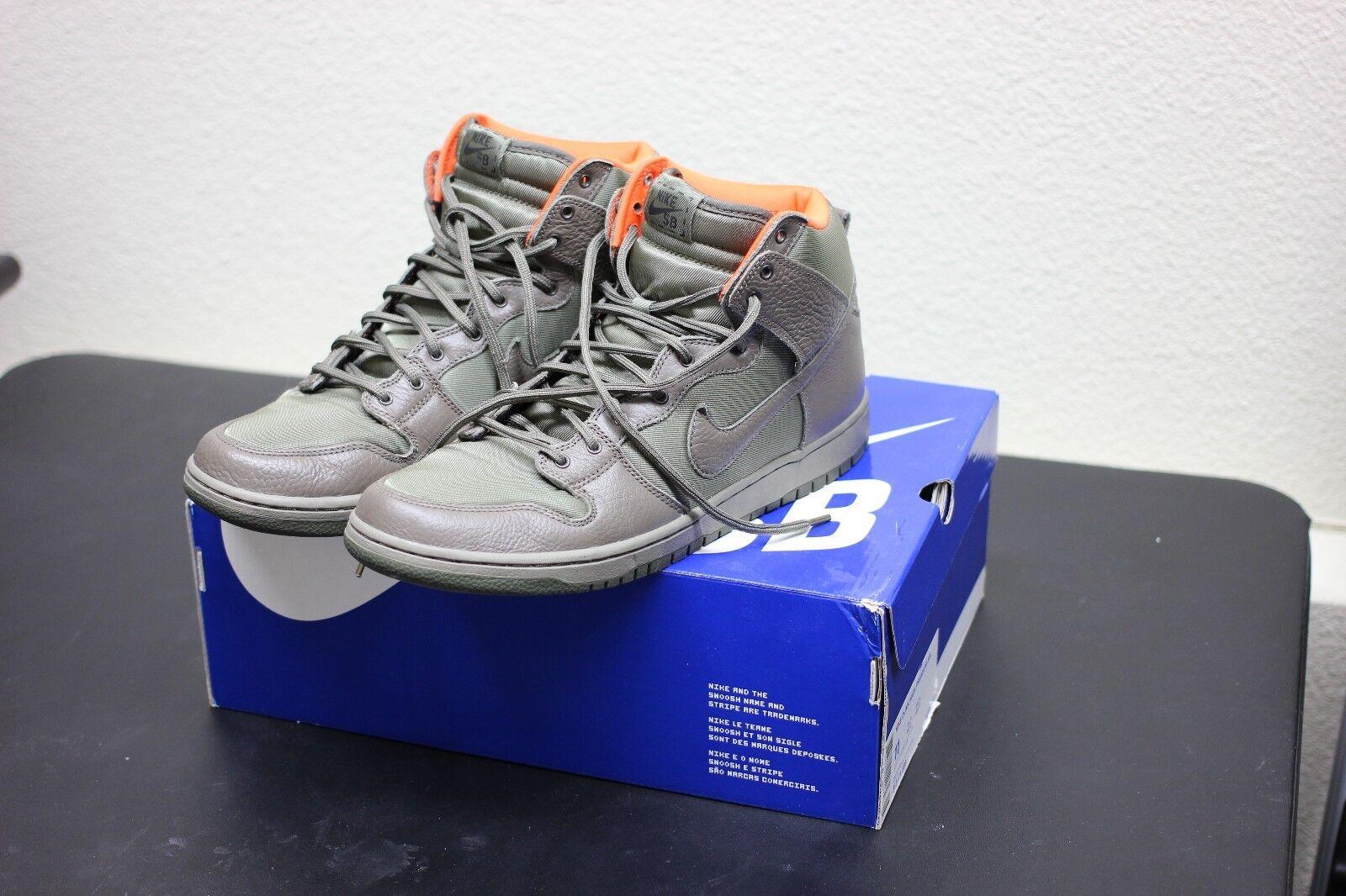 Nike Dunk High PRM SB Frank Kozik Steel Green Olive Khak Safety 313171 328 SZ 11