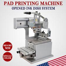 Manual Pad Printer With Opened Ink Dish System Pad Printing Machine 8080mm Us