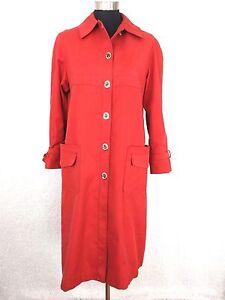 Vintage 60 Weatherbee Women Rain Coat M L Rust Water Repellent