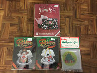 Vintage Lot Of Four (4) Christmas Needlepoint & Cross Stitch Kits In Package