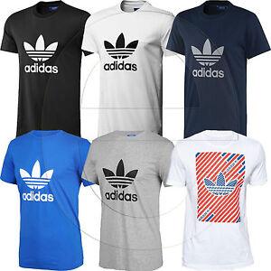 Adidas-Originals-Trefoil-Essentials-California-Mens-Crew-Neck-T-Shirt-Casual