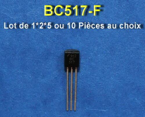 *** lot of 1*2*5 or 10 transistors npn bc517 ***