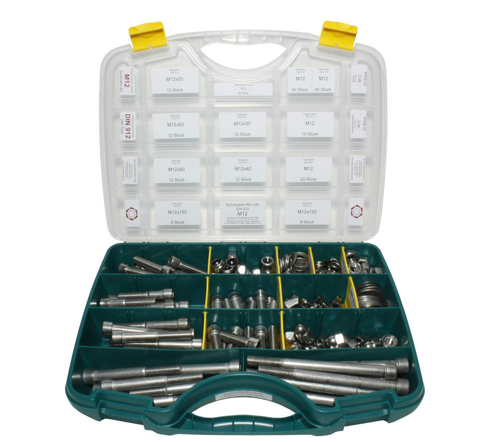 Sortiment Set Edelstahl Zylinderschrauben DIN 912 912 912 VA A2 V2A Innensechskant     | Verkaufspreis  fa27a3