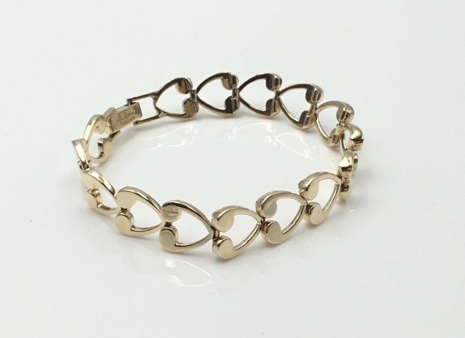 Ladies Estate 26 grams Cartier 14K Y.G. 1950's  7 1 2 inch  Love Heart Bracelet