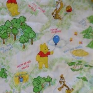 Vintage Sears WINNIE THE POOH Crib Blanket Quilt Comforter ...