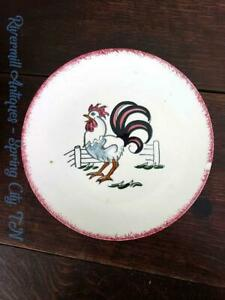 Blue-Ridge-Southern-Pottery-6-1-2-034-Rooster-Plate