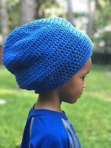 7913a953f83 Image is loading SALE-Handmade-Crocheted-Blue-Rasta-Reggae-Dreadlocks-Tam-