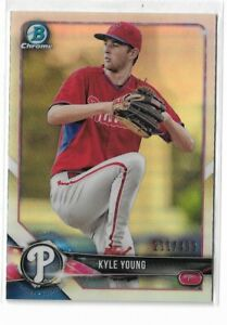2018 Bowman Chrome prospects refractor parallel Kyle Young 211/499 Philadelphia