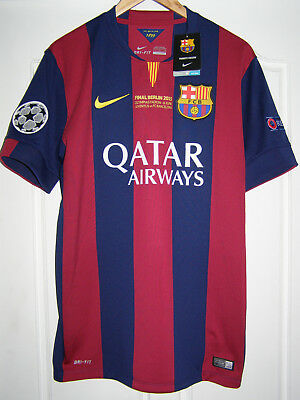 super popular 2379d 13c90 Camiseta Barcelona champions league 2015 final shirt Suarez SPECIAL ISSUE  jersey | eBay