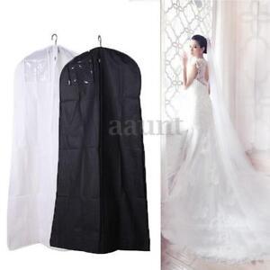 Wedding dress bridal gown garment dustproof breathable for Storing wedding dress in garment bag