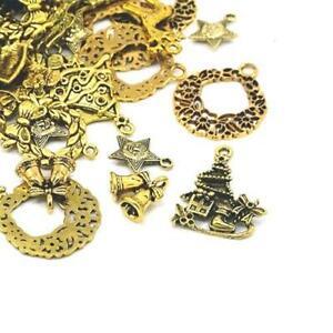 Cross Charm//Pendant Tibetan Antique Gold 5-40mm  30 Grams Accessory Jewellery
