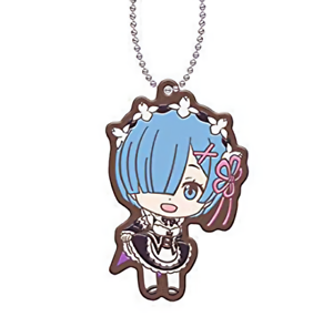 Re:Zero Starting Life Rem Character Gacha Capsule Rubber Mascot Key Chain Anime