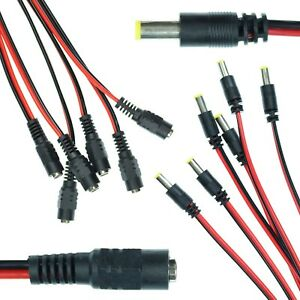 Male-Female-5-5mm-x-2-1mm-25cm-DC-Power-Barrel-Jack-Connector-Lead-LED-Strip