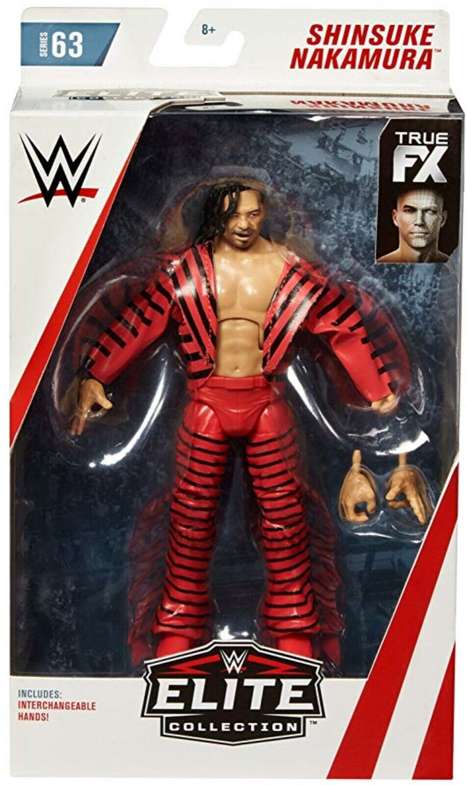 Wwe Shinsuke Nakamura Raw Fx Accesorios Mattel Elite Serie 63 Figura de Lucha