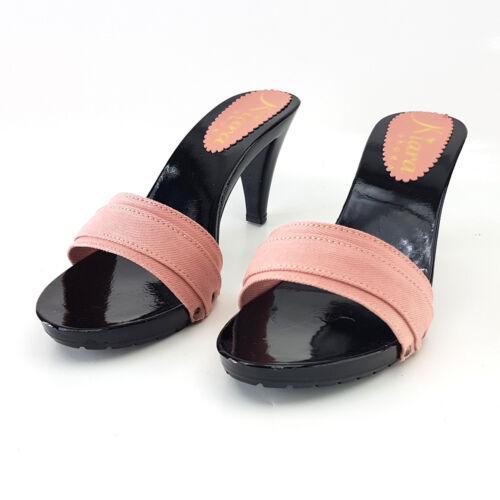 Zoccoli 35 Heel In a Donna 9 Scarpe Italy Da 42 K6501 Made Rosa rrgq0