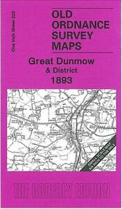 OLD-ORDNANCE-SURVEY-MAP-GREAT-DUNMOW-amp-DISTRICT-1893