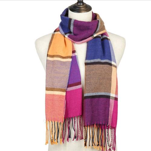 Women Pashmina Winter Warm Tartan Check Neck Long Scarf Shawl Wrap Stole Plaid