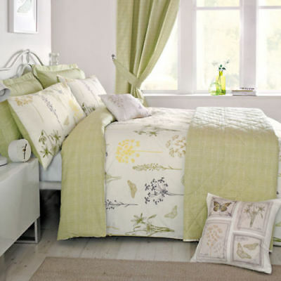 Dreams & Drapes Botanique Reversible Easy Care Duvet Cover Bedroom Range Green