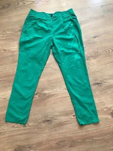 WOMENS-GREEN-HIGH-WAISTED-TAPERED-LEG-TROUSERS-PANTS-W30-L30-INSTAGRAM