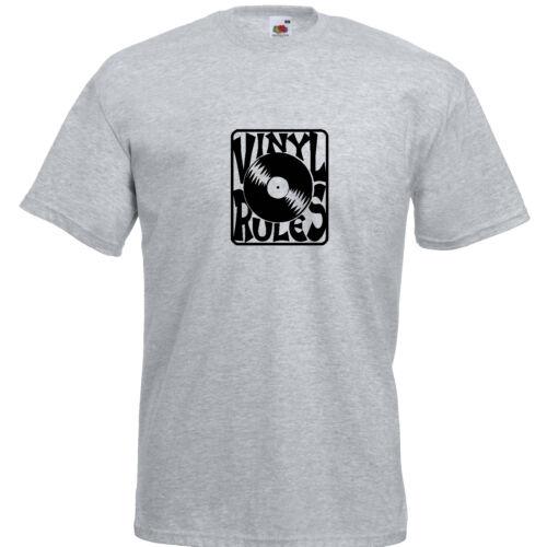 Vinyl Rules T-Shirt Kult Mottoshirt Funshirt Party Geschenk JGA
