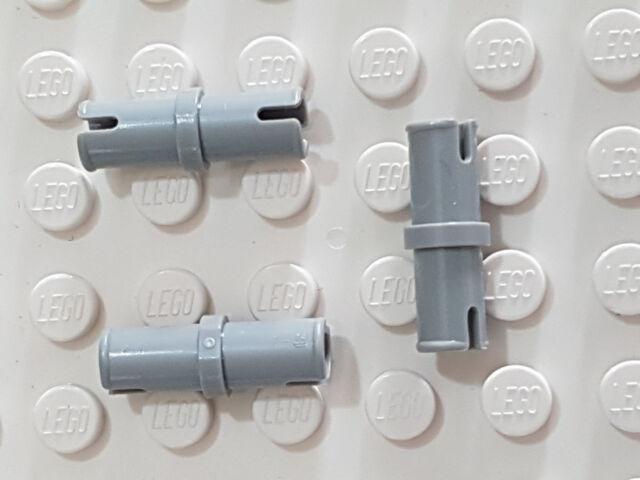 LEGO Pin without Friction Ridges Lengthwise Light Gray Technic X8