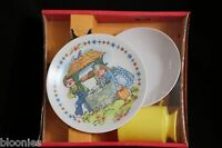 Vintage Melmac 3-piece Jack And Jill Childrens Dinner Set: Plate, Bowl, Cup