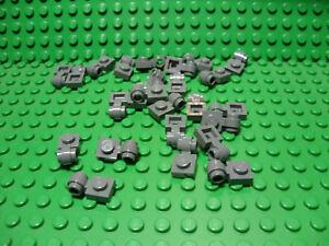 LEGO Lot of 25 Black 1x1 Clip Light Plate Pieces