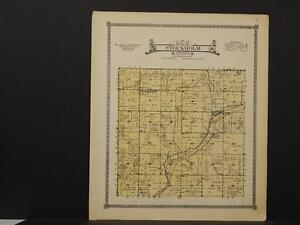 Z6#62 Crawford County Map Stockholm Township 1920 Iowa