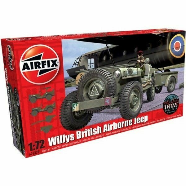 Airfix British Airborne Willys Jeep 1 72nd Military Plastic Model Kit  A02339 for sale online | eBay