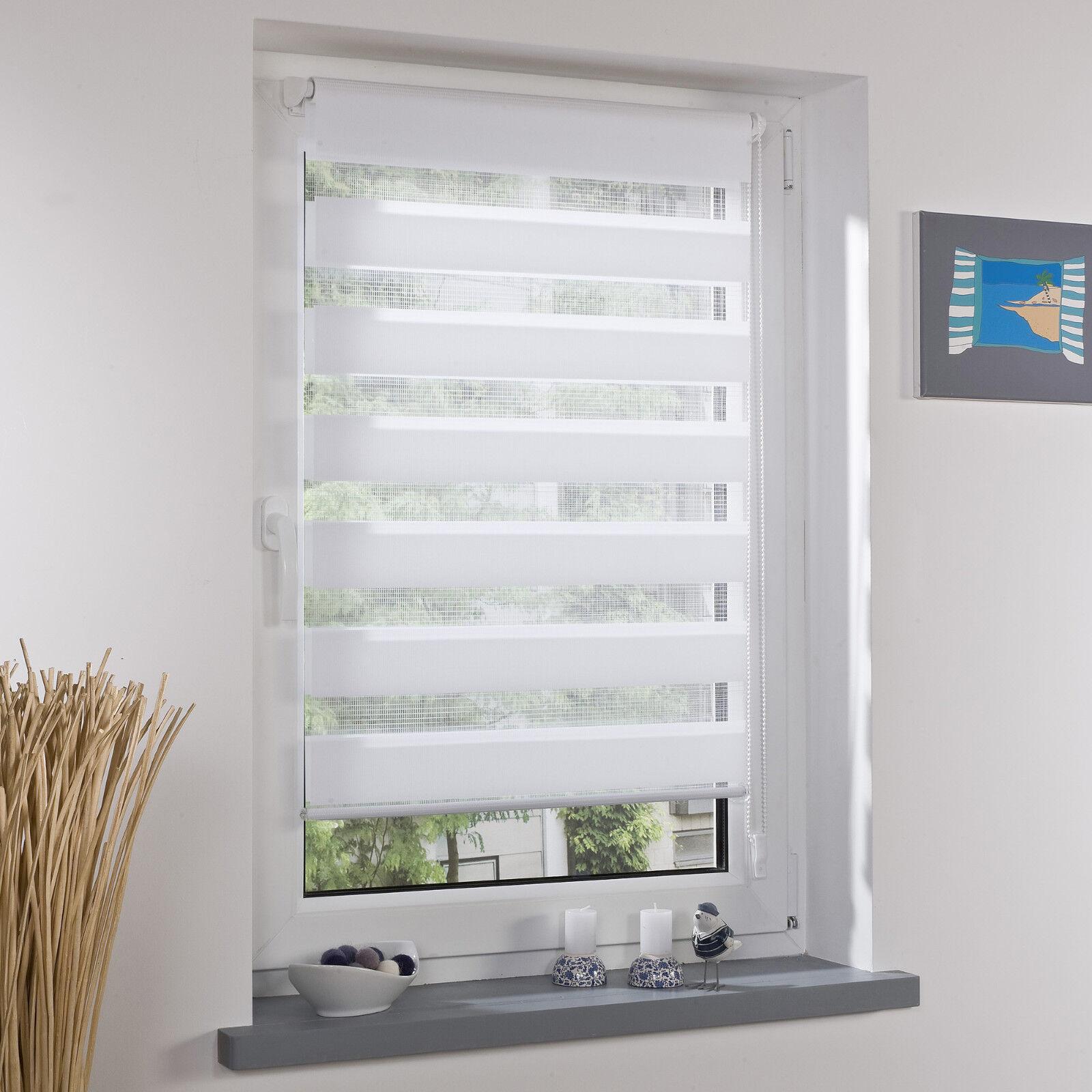 Doppelrollo Duo Rollo Mini Klemmfix Montage ohne Bohren Fenster Türen - Weiß | ein guter Ruf in der Welt